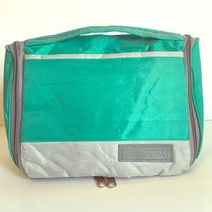 Daun Bali travel toiletry Bag organizer green gray